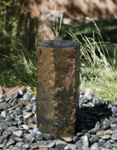 Basalt Column Fountain at Outside Spaces & Fireplaces